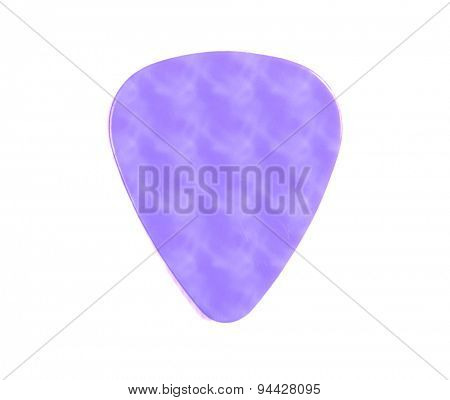 Guitar pick purple isolated on a white background