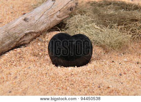 Obsidian On Beach