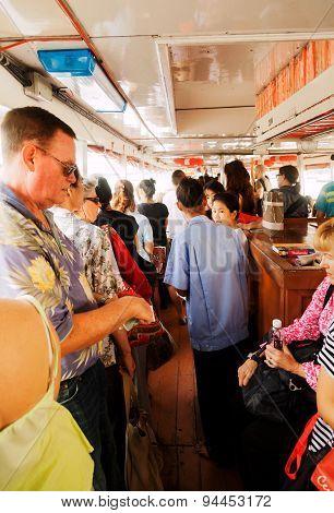 Crossing Chao Phraya River, Bangkok
