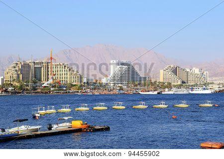 Gulf Of Eilat, Luxurious Hotels In Popular Resort - Eilat