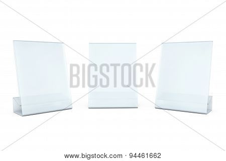 White Blank Transparent Table Plate Cards