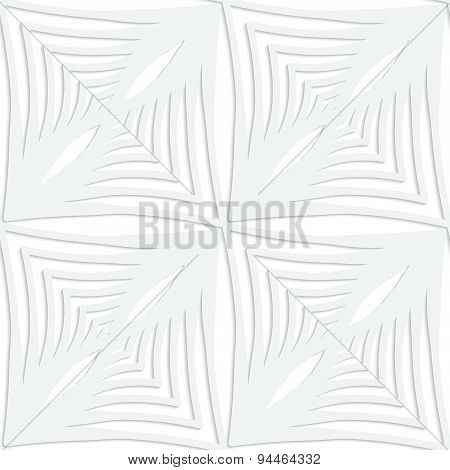 Paper White Striped Squares With Thickening