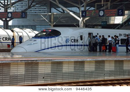 Modern Train Station In Changsha, China
