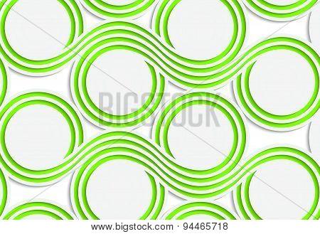 White Colored Paper Green Spools