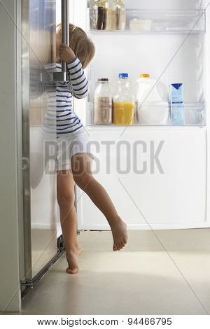 Boy Raiding The Fridge