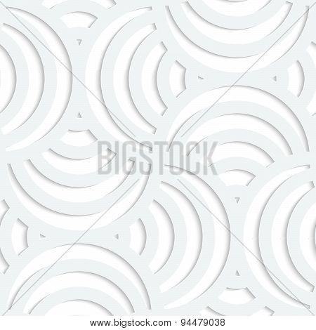 White Paper 3D Four Stripes Circle Pin Will