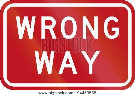 Wrong Way In Australia