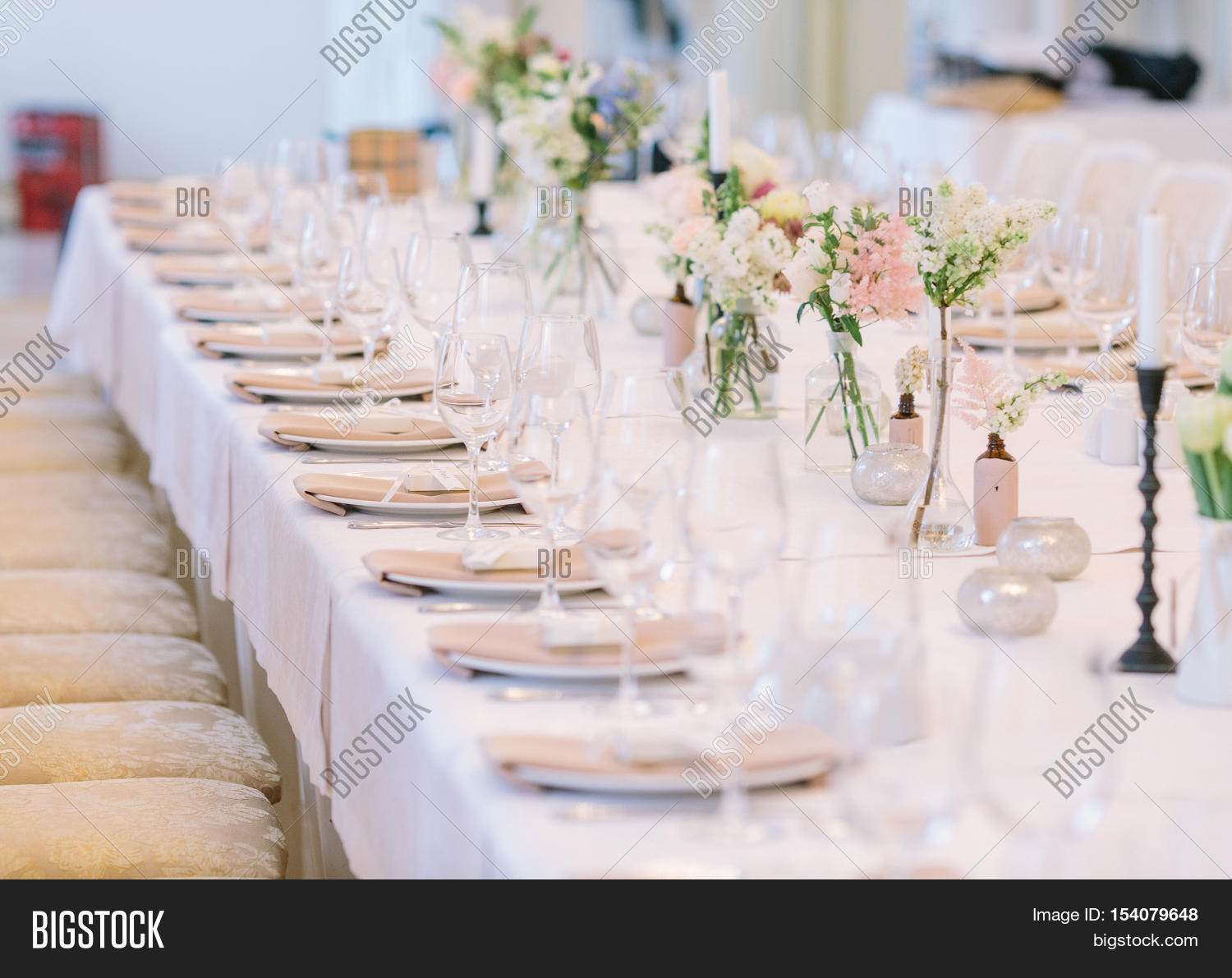 Wedding decor wedding image photo free trial bigstock - Decoration table restaurant gastronomique ...