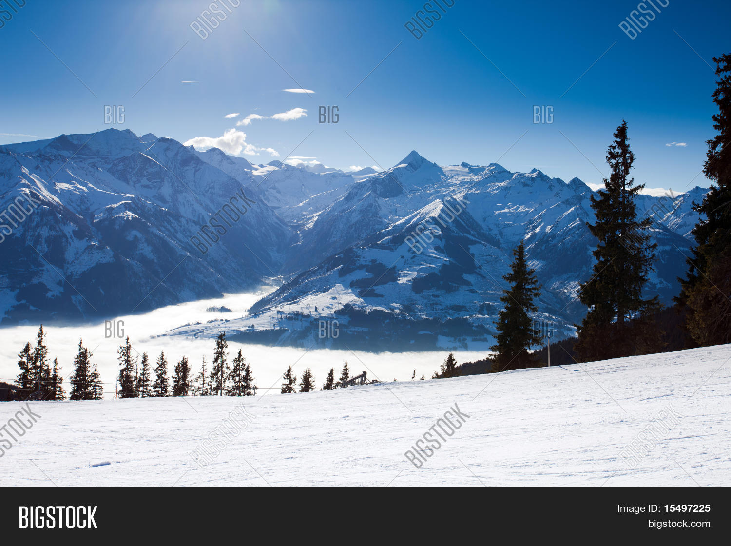 view over kaprun ski image & photo (free trial) | bigstock