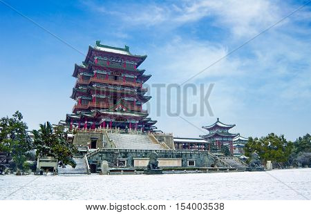The ancient Chinese style architecture the ancient Tang Dynasty architecture.