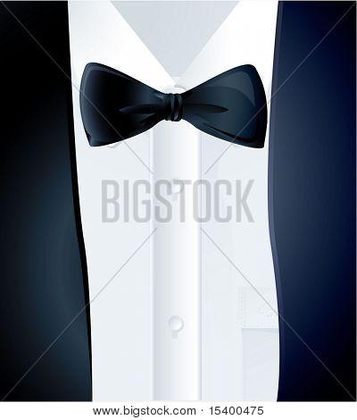 Black tie. Vector.