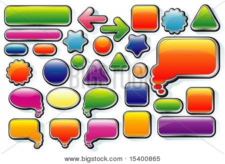 Candy vector bubles.