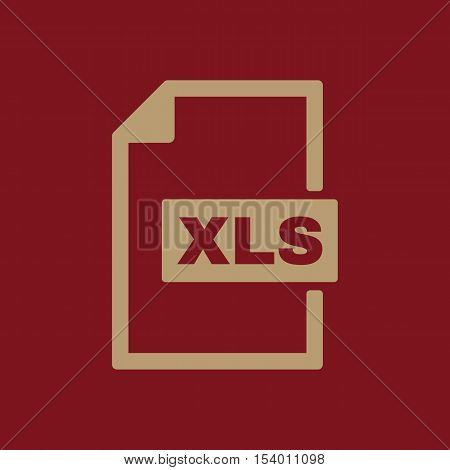 The XLS icon. File format symbol. Flat Vector illustration