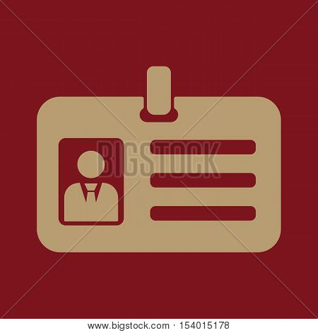 The accreditation icon. Admission and badge, identification, pass symbol. Flat Vector illustration