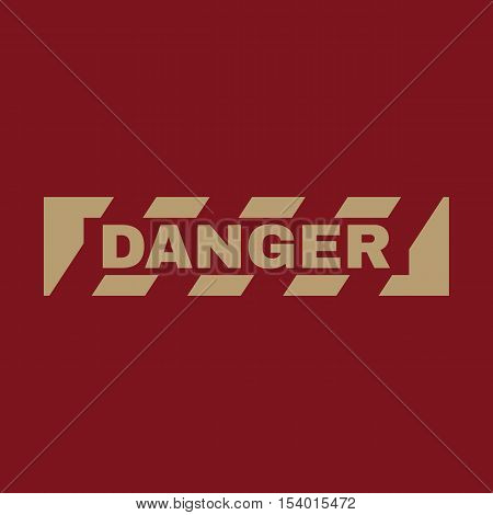 The danger icon. Caution and hazard, attention symbol. Flat Vector illustration
