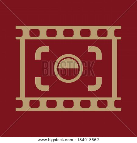 The viewfinder icon. Focusing and photography, photo symbol. Flat Vector illustration. Button Set