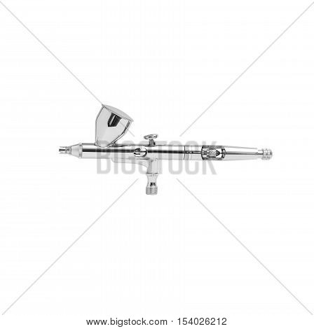 Image of an airbrush gun on white background