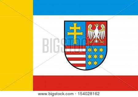 Flag of Swietokrzyskie Voivodeship Swietokrzyskie Province or Holy Cross Province in central Poland