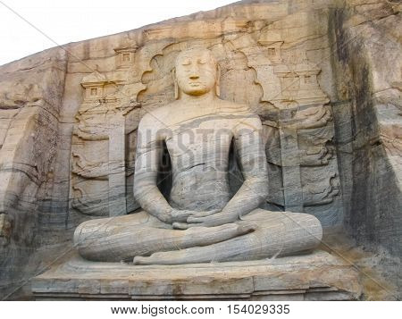 Buddha in Polonnaruwa temple - medieval capital of Ceylon