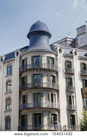 Barcelona (Catalunya Spain): building along the Avinguda Diagonal