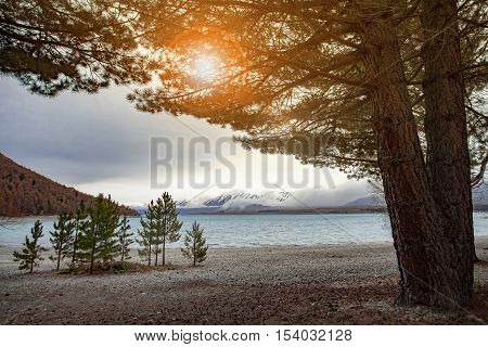 beautiful scenic of lake tekapo south island new zealand