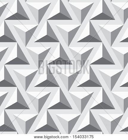 Seamless geometric op art texture. Triangles pattern. Vector art.