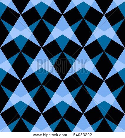 Vector seamless pattern with abstract shapes.Modern geometric texture. Opt Art