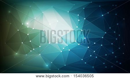 Vector abstract technology background with polygonal texture. Elements are layered separately in vector file.