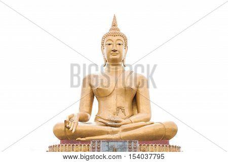 golden Buddha.Buddha isolated on a white background.