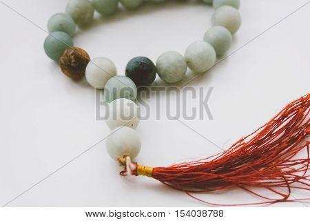 jade beads,jade Buddhist prayer beads for meditation, Buddhist themes