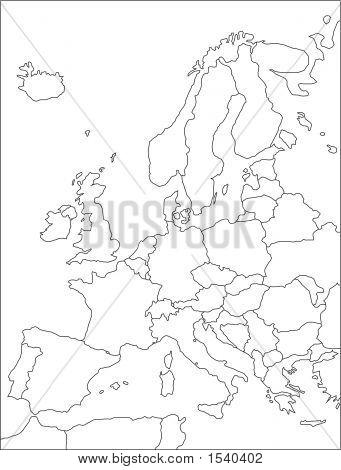 Europe Map.Eps