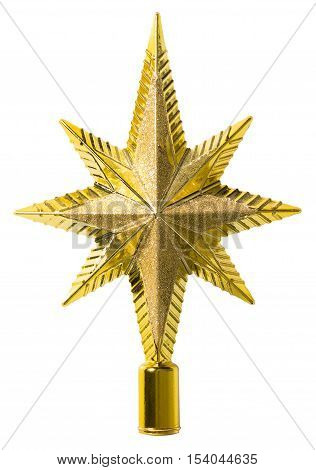 Star Top Decoration Christmas Tree Topper Decorative Ornament Isolated over White background