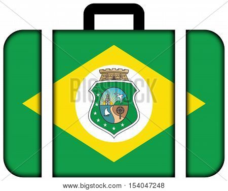 Flag Of Ceara State, Brazil. Suitcase Icon, Travel And Transportation Concept