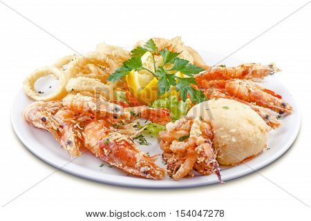marine delicacies, national dish meal made with local products canaries photographed in Tenerife Spain
