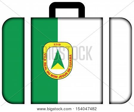 Flag Of Cuiaba, Mato Grosso, Brazil. Suitcase Icon, Travel And Transportation Concept