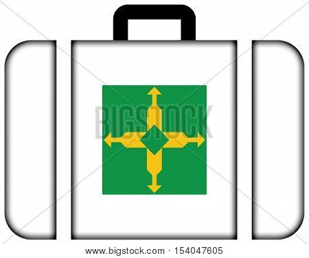 Flag Of Distrito Federal, Brazil. Suitcase Icon, Travel And Transportation Concept