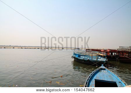 View Of The Ganges River Varanasi, India