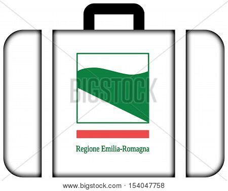 Flag Of Emilia-romagna, Italy. Suitcase Icon, Travel And Transportation Concept