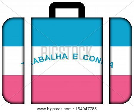 Flag Of Espirito Santo State, Brazil. Suitcase Icon, Travel And Transportation Concept