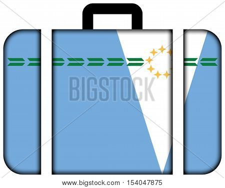 Flag Of Formosa Province, Argentina. Suitcase Icon, Travel And Transportation Concept