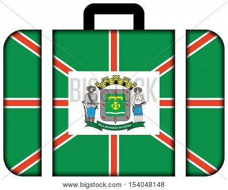 Flag Of Goiania, Goias State, Brazil. Suitcase Icon, Travel And Transportation Concept