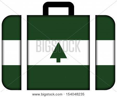 Flag Of Greenbelt, Maryland, Usa. Suitcase Icon, Travel And Transportation Concept