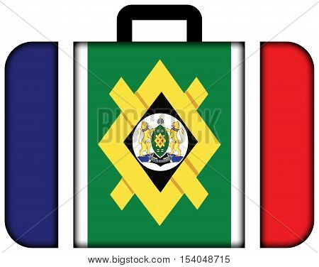 Flag Of Johannesburg, South Africa. Suitcase Icon, Travel And Transportation Concept