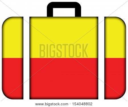 Flag Of Karnataka, India. Suitcase Icon, Travel And Transportation Concept