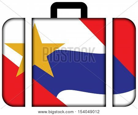 Flag Of Lafayette, Indiana, Usa. Suitcase Icon, Travel And Transportation Concept