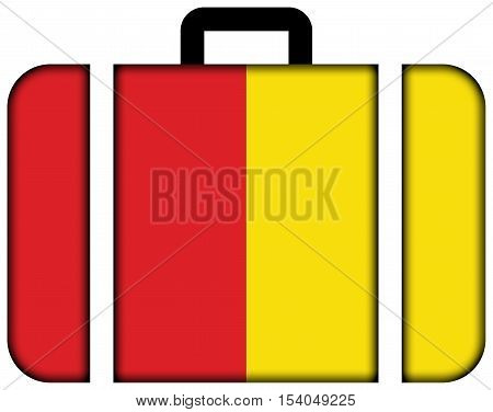Flag Of Liege, Belgium. Suitcase Icon, Travel And Transportation Concept