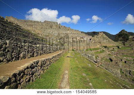 Scenic view to Macchu Picchu, Peru, South America
