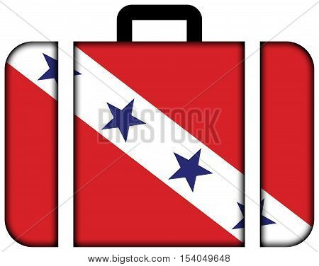 Flag Of Marica, Rio De Janeiro State, Brazil. Suitcase Icon, Travel And Transportation Concept