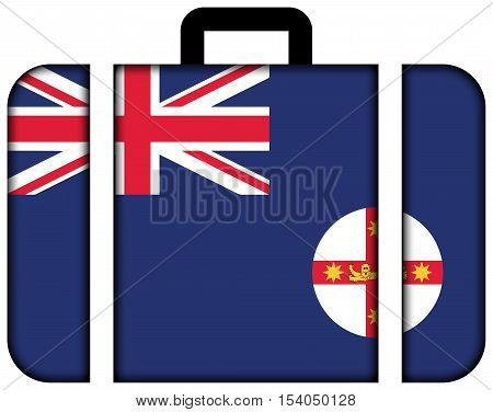Flag Of New South Wales State, Australia. Suitcase Icon, Travel And Transportation Concept
