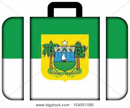 Flag Of Rio Grande Do Norte State, Brazil. Suitcase Icon, Travel And Transportation Concept